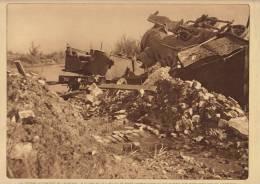 Planche Du Service Photographique Armée Belge Guerre 14-18 WW1 Train Locomotive De Caeskerke - Boeken, Tijdschriften & Catalogi