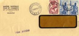 LETTRE  PAR AVION - BRAZAVILLE CONGO  POUR AUSTRIA - AUTRICHE  1954 - Congo - Brazzaville