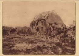 Planche Du Service Photographique Armée Belge Guerre 14-18 WW1 Ruine Commandant De Secteur à Caeskerke - Sonstige