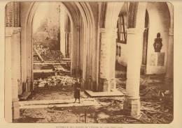planche du service photographique arm�e belge guerre 14-18 WW1 ruine eglise de loo