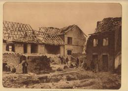 planche du service photographique arm�e belge guerre 14-18 WW1 ruine de caeskerke