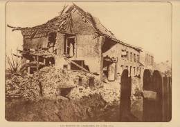 Planche Du Service Photographique Armée Belge Guerre 14-18 WW1 Ruine Maison à Caeskerke - Libros, Revistas & Catálogos