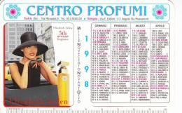 CALENDARIETTO  PLASTIFICATO PLUBICITARIO-CENTRO PROFUMI -ANNO 1998 - Calendari