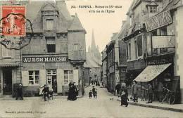 Depts  Divers- Cotes D Armor - Ref E375- Paimpol - Rue De L Eglise -commerces Au Bon Marché Et Autos - Velos  - - Paimpol