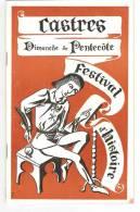 PROGRAMME CASTRES DIMANCHE DE PENTECOTE 1961 FESTVAL D HISTOIRE - Programas