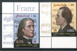 VATICANO 2011** - Franz Liszt E Gustav Mahler - 2 Val. MNH Come Da Scansione - Musica