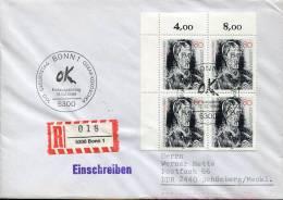 Germany, Registered Cover With Special Postmark 1986 Bonn,  100 Year Of Birth Oskar Kokoschka - Sonstige