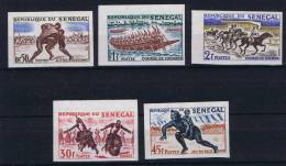 Senegal, 1961, Y 205-209 MNH Non Dentelé - Senegal (1960-...)
