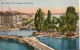 CPA  - SUISSE - GENEVE - Pont De Bergues Et Ile Rousseau - Flamme Championnats Du Monde Canots Automobiles - GE Geneva