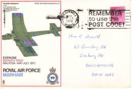 GB  -  RAF Marham - Exercise Bersatu Padu  - Vickers Virginia 10  -   FDC - Flugzeuge