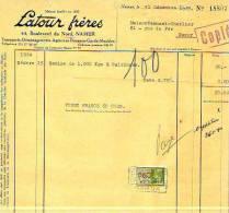 Namur - 1939 - Latour Frères - Transports-déménagements-agences En Douanes-garde- - Transport