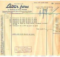 Namur - 1945 - Latour Frères - Transports-déménagements- Agences En Douanes-garde- - Transport