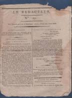 LE REDACTEUR 23 06 1796 - ARMEE DE RHIN ET MOSELLE - HOCHE - GENES - GRACCHUS BABEUF - BRIOUDE - AUTUN - ARDECHE - Giornali - Ante 1800