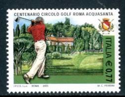 ITALIA / ITALY 2003** - Centenario Circolo Golf Roma Acquasanta - 1 Val. MNH Come Da Scansione - Golf