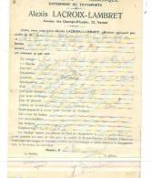 Namur - 1918 - Alexis Lacroix-Lambert - Entreprise De Transports - Affrêtements-remorque - Transport