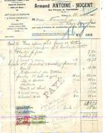 Salzinnes (Namur) - 1944 - Armand Antoine-Nocent - Entreprises Générales De Plomberie Et - Électricité & Gaz