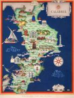 Carta Turistica Iconografica Calabria - Mappe