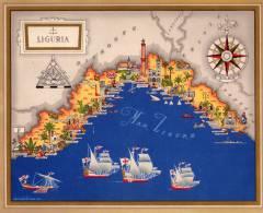 Carta Turistica Iconografica Liguria - Mappe