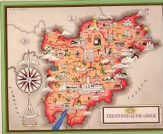 Carta Turistica Iconografica Trentino Alto Adige - Mappe