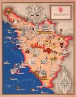 Carta Turistica Iconografica TOSCANA - Mappe