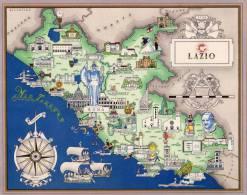 Carta Turistica Iconografica  LAZIO - Mappe