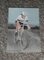 Rare Ancien Autographe Carte Dédicacée, Cyclisme Vélo Gilbert Duclos-Lassalle, Cycles Peugeot Esso - Autografi