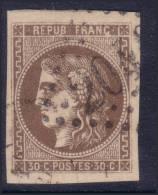 SUPERBE 30c Bordeaux Signé ROUMET (Dallay N° 47 , Cote +300€) - 1870 Bordeaux Printing