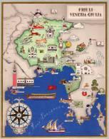 Carta Turistica Iconografica  FRIULI VENEZIA GIULIA - Mappe