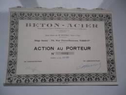 BETON-ACIER (1951) - Aandelen