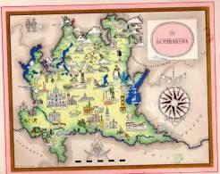 Carta Turistica Iconografica  LOMBARDIA - Mappe