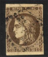 *PROMO* 30c Bordeaux Avec Variété ´R´ Touchant Le Cadre à -35€ ! (Dallay N° 47e , Cote 500€) - 1870 Bordeaux Printing