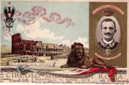 Cartolina Circolo Militare Di Roma - Vittorio Emanuele III 13 Febbraio 1904 Illustratore E.Cerullo (ricordo Festa Ballo) - Koninklijke Families