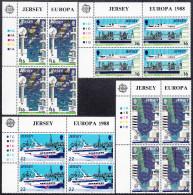 JERSEY  EUROPA  1988  ** MNH  BLOCK Of  4 - Europa-CEPT