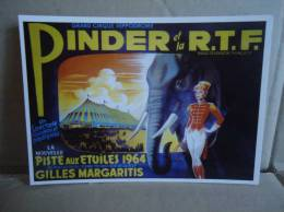 Carte Postale Cirque Pinder 1964 Gilles Margaritis - Zirkus