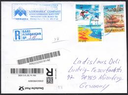 AZERBAIJAN  REGISTERED COVER TO GERMANY - Azerbaiján