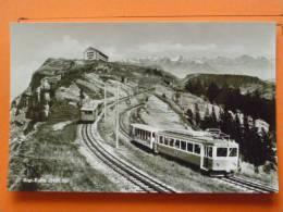 E1-suisse-lucerne---hotel Rigi-rigi-kulm--deux-trains--CARTE PHOTO - LU Lucerne
