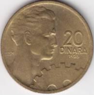 @Y@    Joegoslavie 20 Dinara 1955 UNC  (C479) - Yougoslavie