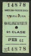 VG477 SPAIN 2 Clase Barcelona Paseo De Gracia - Tarragona Via Vilanueva Y Geltr 27/9/62 - Europa