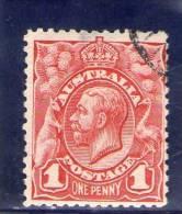 AUSTRALIE 1913-4 O DENT 11 - 1913-36 George V: Köpfe