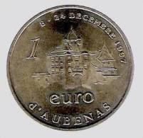 1 Euro Temporaire Precurseur D´ AUBENAS  1997,  RRRR, Gute Erhaltung, BR, Nr. 62 - Euro Der Städte