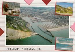 76 - Fécamp - Vue Aérienne, Le Port Le Château, La Plage. - Fécamp