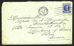 (J094) Belgique - Houyoux - N°257 Sur Lettre De Bruxelles Vers La Suisse (Montana) Du 25 Juin 1931 - 1922-1927 Houyoux