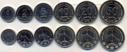 Turkmenistan Coins Set 2009 UNC / BU  - 1, 2, 5, 10, 20, 50 Tenne (6pc Coins Set) - Turkménistan
