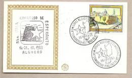 Italia - Busta Commemorativa: 54° Congresso Italiano Di Esperanto - Alghero (SS) - 1983 - Esperanto