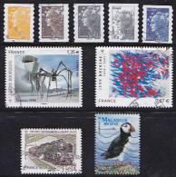 FRANCE- Autoadhésifs D'entreprise Oblitérés Avec De Belles Cotes - Adhesive Stamps