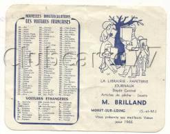 Moret-sur-Loing (77) : Calendrier De 1966 Librairie Papeterie Journeaux Brilland Illustration Des Lecteurs (animé). - Calendriers