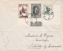 573+586+594 (surtaxe / Toeslagzegel) Op Brief Met Stempel GENT - Briefe U. Dokumente
