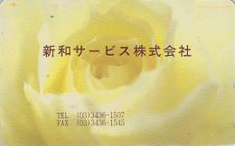 Télécarte Japon / 110-143 - ** ONE PUNCH ** - Fleur / Rose Jaune - Flower Japan Phonecard  - MD 583 - Fleurs