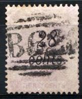 HONG KONG 1879 Wmk CC Perf.14 - 28c On 30c - Yv.28 (Mi.30, Sc.30) Used - Hong Kong (...-1997)
