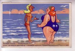 BAIGNEUSE PLAGE VACANCES Carte Humoristique Humour - Humour